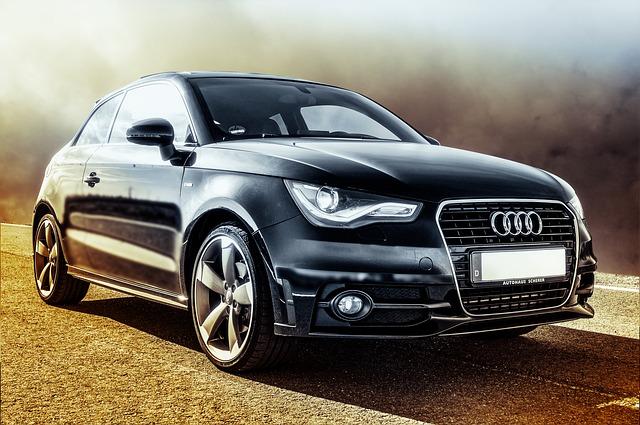 černé Audi