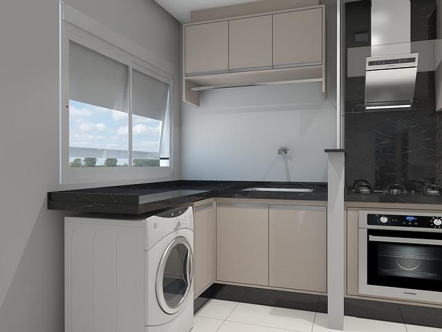 kuchyň s pračkou