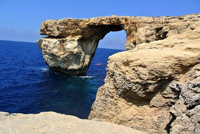 útesy na Gozo