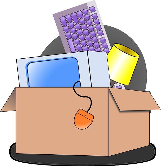 balení věcí při stěhování